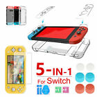 13pcs Hard Clear Case Pretective Cover Case+Film+Thumb Grips for Nintendo Switch