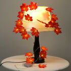 9.8FT Thanksgiving Harvest Maple Leaves Lighted Fall Garland 30 LED String Light