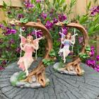 Fairy On Tree Swing Garden Décor Accessories Figurine Fairies Angel Ornaments