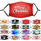 Us Christmas Print Adult Reusable Face Mask Mouth Nose Masks Breathable Washable