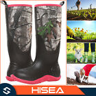 HISEA Womens Outdoor Boots Rain Muck Mud Platform Work Boots for Hunting Fishing
