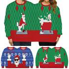 Christmas Couple Novelty Sweater Jumper Xmas Two Person Pullover Sweatshirt Tops