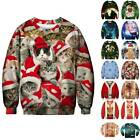 Mens Womens Christmas 3D Sweatshirts Sweater Pullover Jumper Party Funny Tops