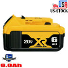 For Dewalt Dcb206-2 20v 20 Volt Lithium Ion 5.0ah 6.0ah Battery Dcb206 Dcb205 Us