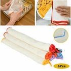 6 12pcs kitchen bamboo fiber dish cloth household super absorbent cleaning towel