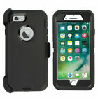 For iPhone 7 8 Plus Rugged Shockproof Case Cover w/Belt Clip & Screen Protector