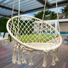 Cotton Hanging Rope Hammock Swing Chair Round For Indoor Outdoor Garden Us