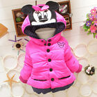 Kids Baby Girls Outerwear Toddler Winter Cotton Mouse Hooded Cartoon Coat Jacket