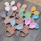 1PC Baby Teether Beech Wooden Rattle Toys Chew Play Gym Montessori Stroller Toy