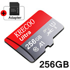 256GB Micro Memory SD Card 4K Class10 Flash TF Card with Adapter Fr Phone USA
