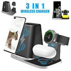 For iPhone Samsung Galaxy Watch Qi Wireless Charging Dock Charger Stand Station