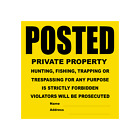 """Posted Private Property Tyvek Signs - 11"""" x 11"""""""