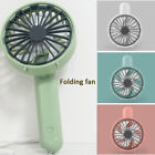 Mini Hand-held Small Folding Desk Fan Cooler Cooling USB Rechargeable Portable