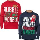 Mens Christmas Funny Novelty Jumper Crew Neck Knitted Xmas Sweater Top New