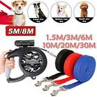 Max 50kgs Dog Leash Rope Pet Leads Training Strong 5ft-98ft Long Retractable UK