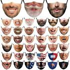 Funny Beard Washable Reusable Facemask Half Face Mouth Mark Protective Unisex