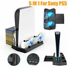 For Sony PS5 UHD/DE Vertical Stand Cooling Fan Dual Controller Charging Station