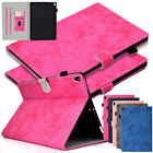 For iPad Pro 9.7 10.5 Retro Canvas Case Card Holder Pen Slot Shockproof Cover