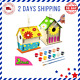 for Kids Ages 4-8 - 2Pack DIY Bird House Kit - Build and Paint Birdhouse Wooden photo