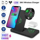 15w Wireless Charger Dock Fast Charging Stand Station for Phone iWatch Air Pods