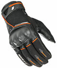 Joe Rocket Black/Orange Mens Super Moto Leather/Textile Motorcycle Gloves
