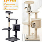 Large Cat Tree Activity Centre Multilevel Scratching Post Kitten Climbing Tower