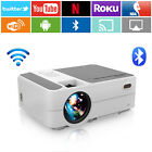Portable WiFi LED Smart Projector Blue-tooth Wireless HD Android Home Theater US