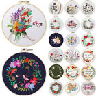 Embroidery Cross Stitch Kit for Beginner Handmade Flower Pattern DIY Craft Decor