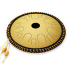 Ulalov Percussion Steel Tongue Drum 14 Note 14 Inch;with Book Travel Bag Mallet