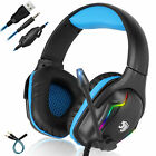Professional Gaming Headset Headphone w/Noise Cancelling Mic for PS5/PS4/Laptop