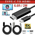 4K 6.6ft USB-C Type C to HDMI Display HDTV Adapter Cable Connector for Laptop PC