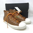 Converse Chuck Taylor All Stars High Top Leather Tan Men's Size Sneakers 163337C
