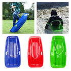 Snow Sled Sledge Toboggan Board Outdoor Luge Downhill Ski W/Rope for Kids Adult