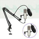 Microphone Kit BM800 Condenser Studio Pro Audio Recording Arm Stand Shock Mount
