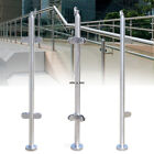 110cm Railing Post Stainless Steel Balustrade End Mid Corner Post with top seat