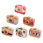 Wooden Milk Teeth Storage Box Camera Style Hair Keepsake Teeth Save Case