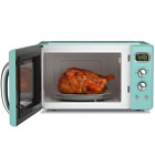 0.9Cu.ft Retro Countertop Compact Microwave Oven 900W Kitchen Home 5 Power Level