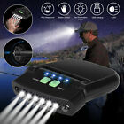 6 LED Clip-on Hat Cap Head Lamp Torch Light Sensor Headlamp Outdoor Rechargeable