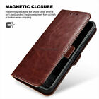 Leather Wallet Phone Flip Pouch Case Card Holder Kickstand Cover For Cellphones