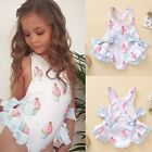 Summer Baby Kids Girls Print Swimwear Girls One Piece Swimsuit Beach Wear