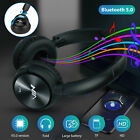 3.5mm Wired Over Ear Headphones Bluetooth Stereo Bass Wireless Rotatable Headset