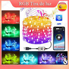 RGB LED Luz De Tira Strip USB Decoration Multicolored Con APP Remote...