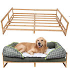 Elevated Dog Bed Frame Indoor Outdoor Raised Pet Cot Mat Bamboo Stand 30 38