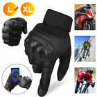 Leather  Motorcycle Touch Screen Outdoor Sports Motocross Cycling Racing Gloves