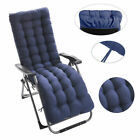 170cm Sun Lounger Sunbed Cushions Replacement Garden Thick Chair Pad Recliner