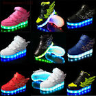 Boys Girls LED Light up Lace Up Luminous Sneakers Kids Children Casual Shoes us