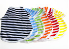 New Pet Clothes Short Sleeved Striped T-shirt In Various Colors Summer Small Dog