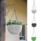Hanging Basket Rattan Flower Plant Pot Planter Chain Home Garden Decoration