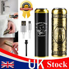 UK Portable Electric Shaver Mini Waterproof Razor for Men Bald Head Rotary Gold