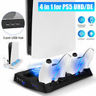 For PS5 UHD/DE Vertical Stand Cooling Fan Controller Charging Station USB Hub US